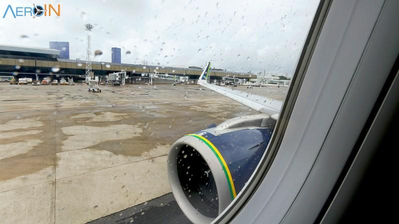 Iniciando o taxiamento em Recife.