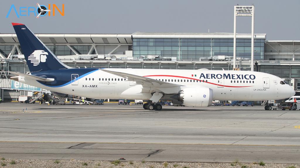 AeroMéxico irá introduzir o Boeing 787-9 Dreamliner nos voos para o Brasil.