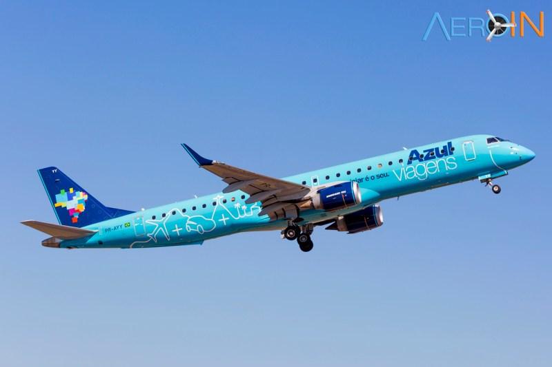 Avião Embraer 195 Azul