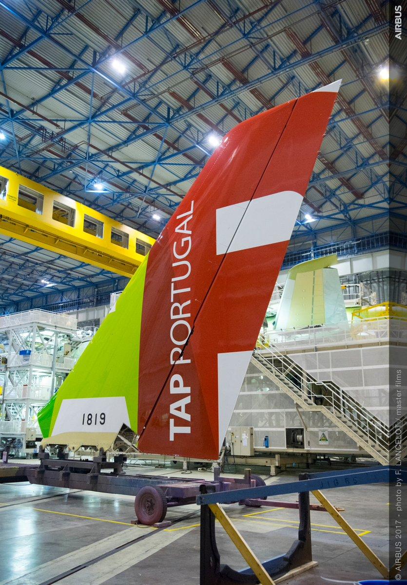 Primeiro Airbus A330neo da TAP Portugal começa a ser montado.