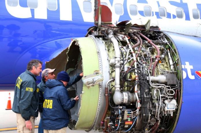 Motor Falha Avião Boeing 737 Southwest