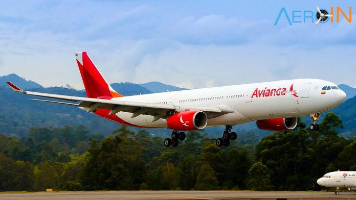 Airbus A330-300 da Avianca pousa em Bogotá