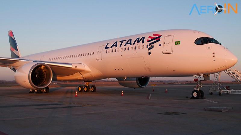 Airbus A350 da LATAM em Belo Horizonte
