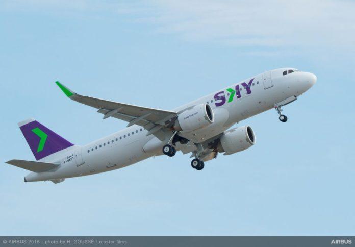 Avião Airbus A320neo Sky Chile