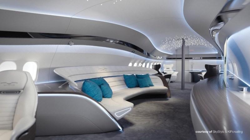 Avião Boeing 737 BBJ MAX Interior SkyStyle
