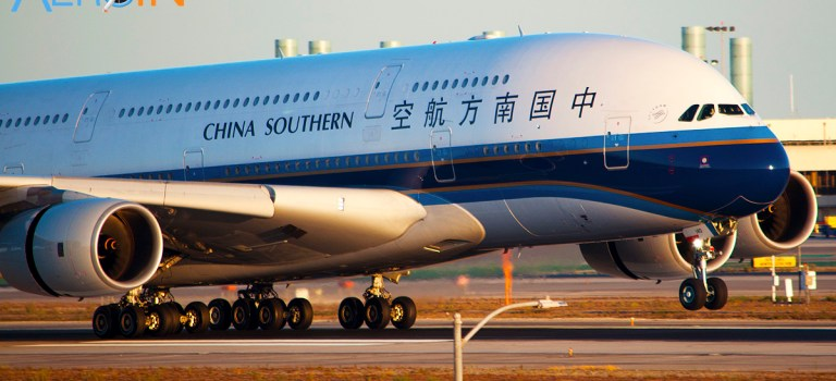 Avião Airbus A380 China Southern