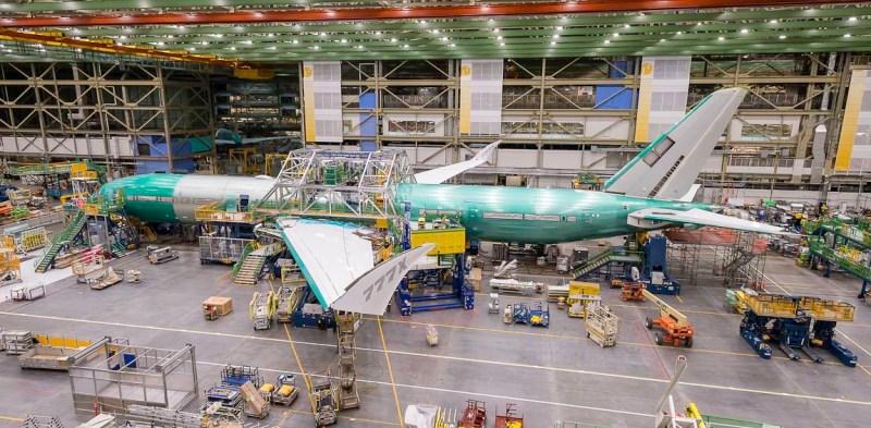 Avião Boeing 777X Fuselagem
