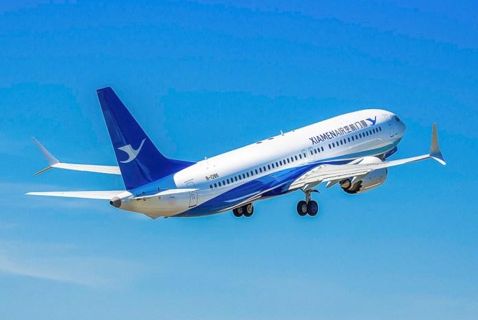 Avião Boeing 737 MAX Xiamen Airlines