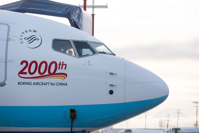 Avião Boeing 737 MAX Xiamen Airlines 2000th chinese