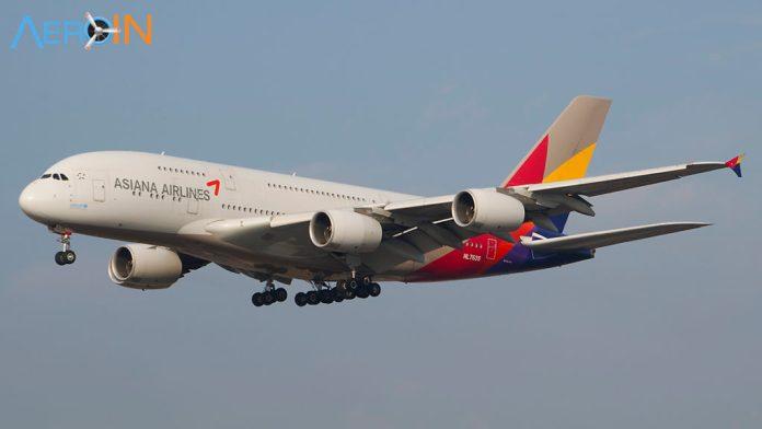 Avião Airbus A380 Asiana