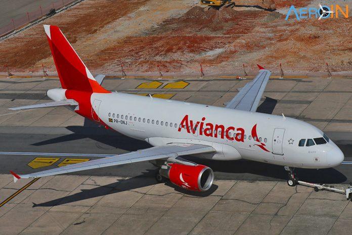 Airbus A319 da Avianca Brasil em Congonhas