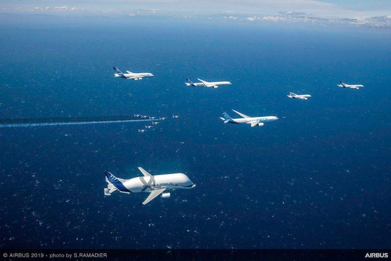 Airbus 50 Flypast Flight