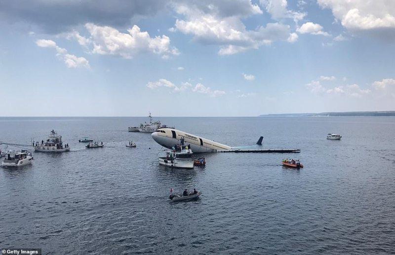 Avião Airbus A330 afundado Turquia