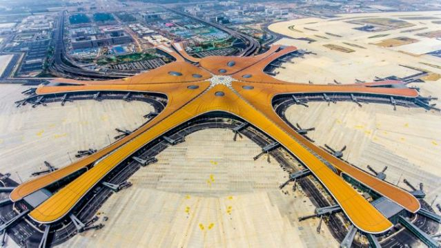 Pequim Beijing Daxing Airport Air view