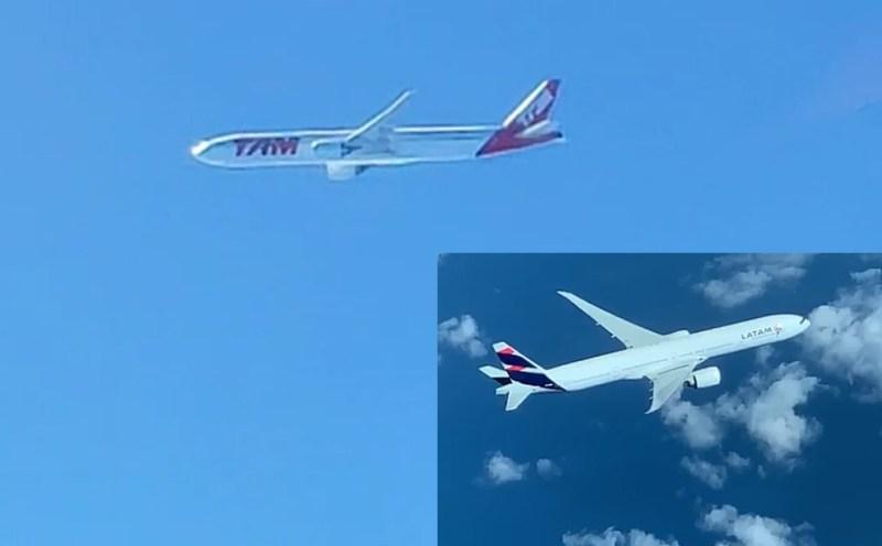 Vídeo Dois Boeing 777 LATAM