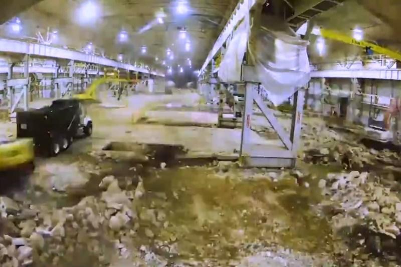 Vídeo Galpão Velho Oficina Aeronaves Boeing