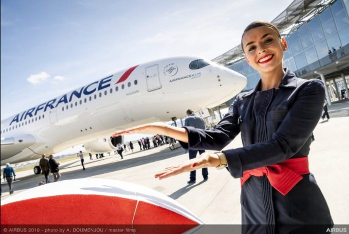 Air France Primeiro A350-900 Entrega