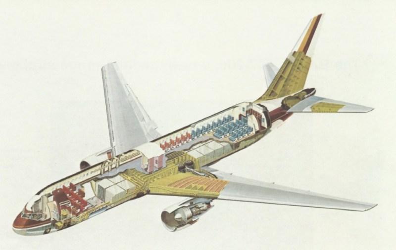 Boeing 767 cutaway visão interna