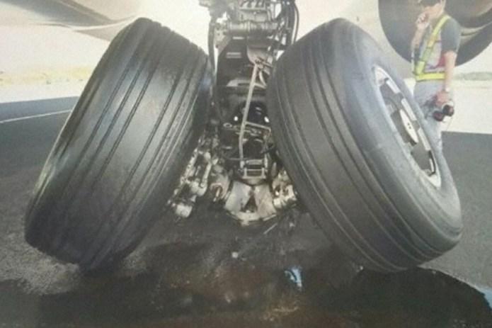 Incidente 777 Korean Trem de Pouso Quebrado