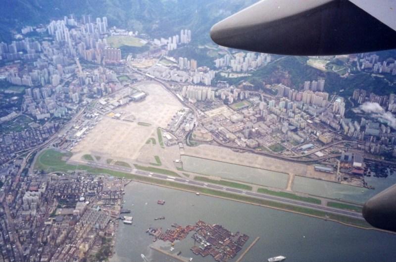 Kai Tak Aeroporto Vista Aérea