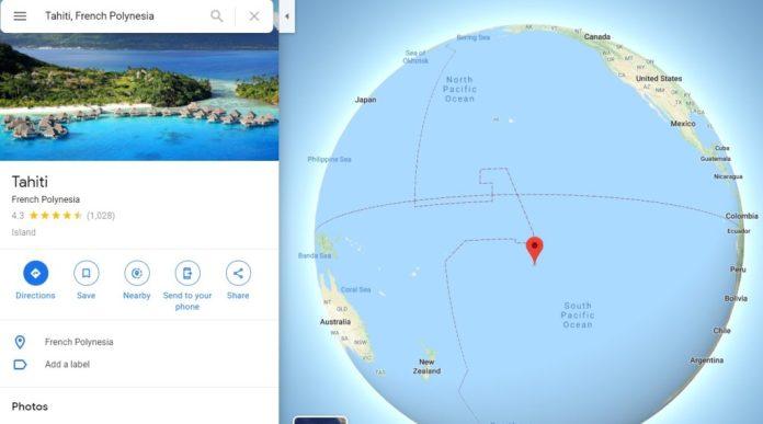 Maps Localização Tahiti