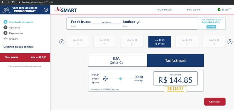 JetSmart promoção IGU