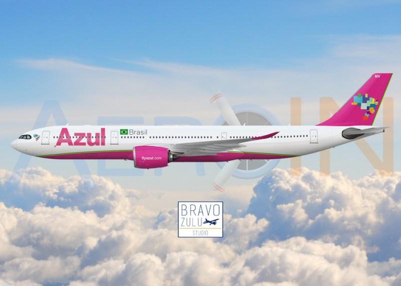 Airbus A330neo Azul Rosa