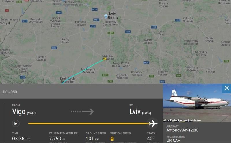 Acidente Antonov An-12 Lviv Ucrânia Imagem Radar
