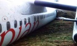 Acidente Avião Dash 8-400 Ethiopian Decolagem Juba Fuselagem