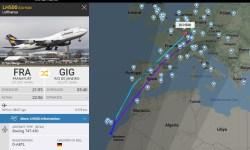 FlightRadar24 Voo LH500 Rio de Janeiro Problema