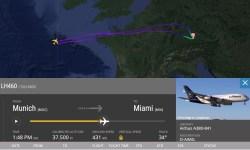 FlightRadar24 A380 Fumaça Retorno Origem