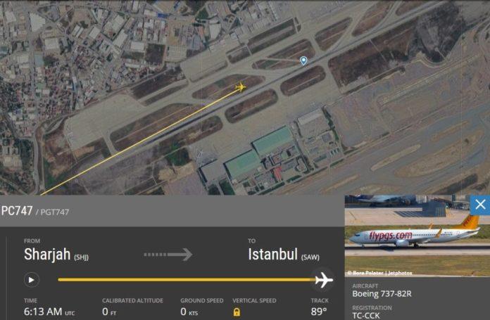 FlightRadar24 Acidente 737 Pegasus Instambul Sabiha