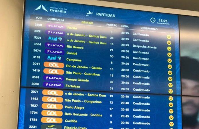 Aeroporto Brasília Inframerica Novo Painel Emoji