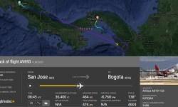 FlightRadar24 Voo Avianca A319 Perda Controle