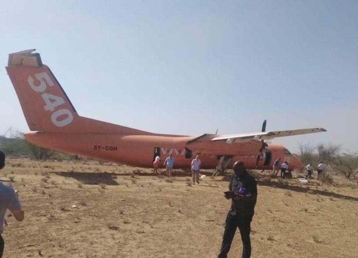 Dash 8 Fly 540 Pouso Emergência