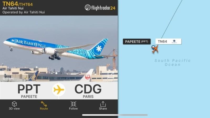 Boeing 787 voo doméstico