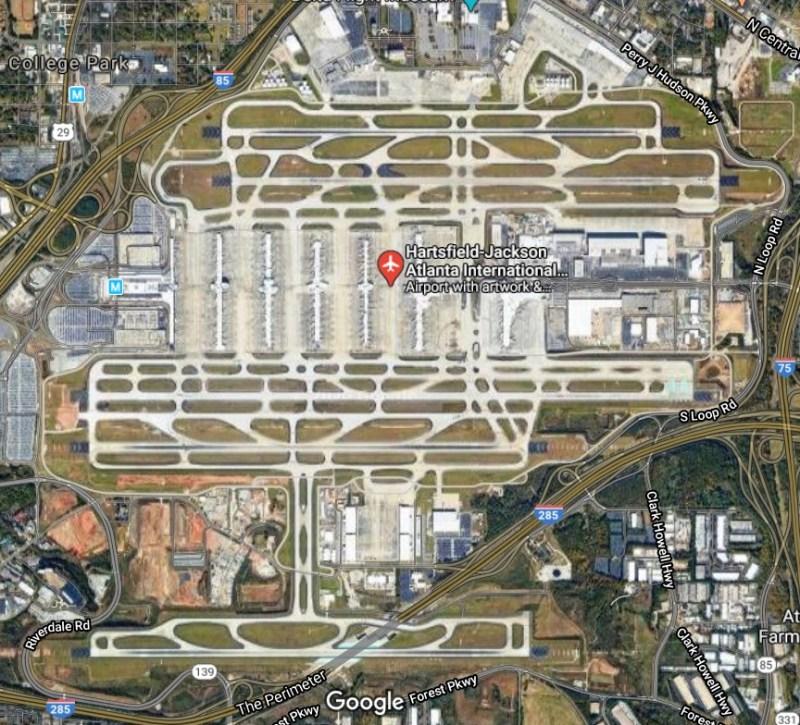 Aeroporto Atlanta Vista Aérea Google Maps
