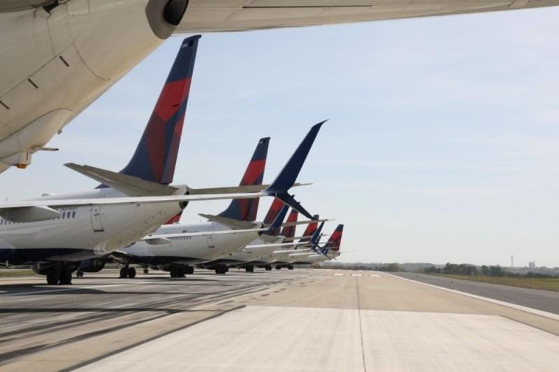 Delta Air Lines Aviões Pista Sul Aeroporto Atlanta