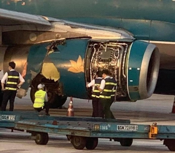 Incidente A321 Vietnam Airlines Estouro Pneu Motor Danificado