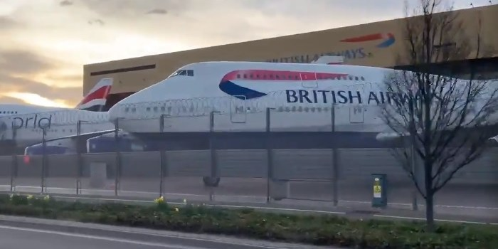 Vídeo Boeing 747 British Estocados Londres Heathrow