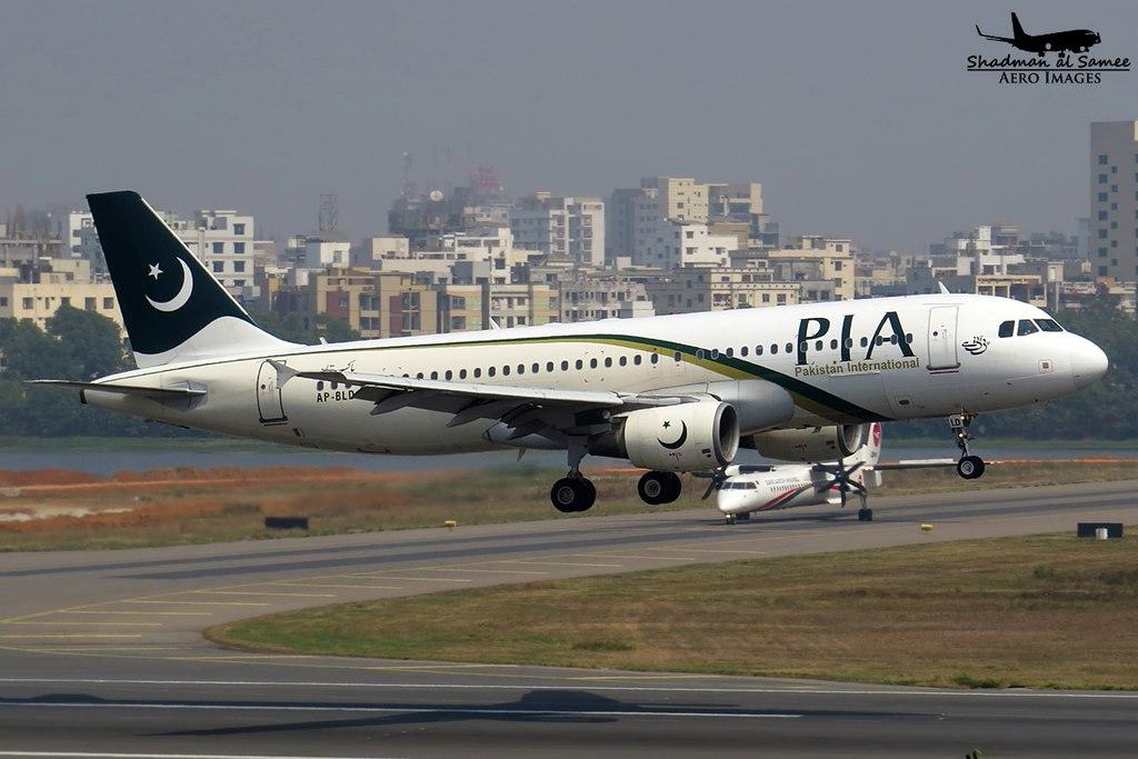 Avião Airbus A320 PIA Pakistan International Airlines