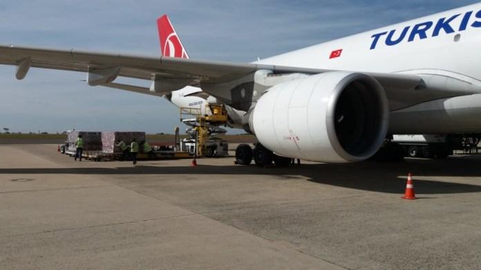 Turkish Airlines A330-200F Voo Carga Respiradores Viracopos