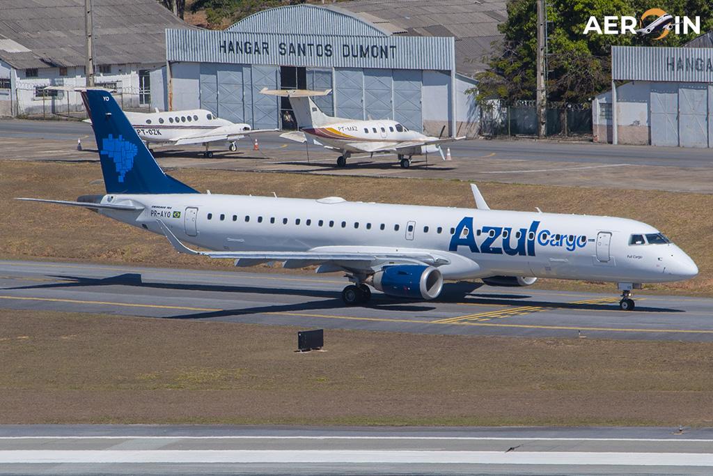 Embraer 195 Blue Cargo Plane