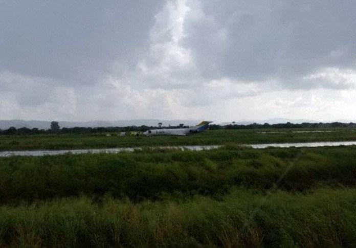 Boeing 727 LAS Incidente Pouso Valencia Venezuela