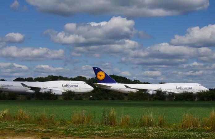 Lufthansa 747-400 Aeroporto Twente Holanda