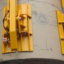 Dit vacuüm heftoestel van Aerolift wordt gebruikt om papierrollen te handlen