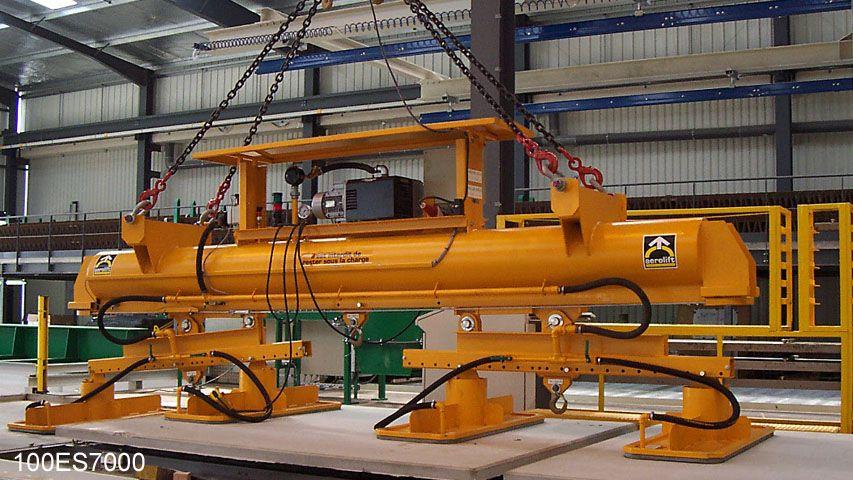 Vacuüm heftoestel van Aerolift voorzien van een snelwisselsysteem