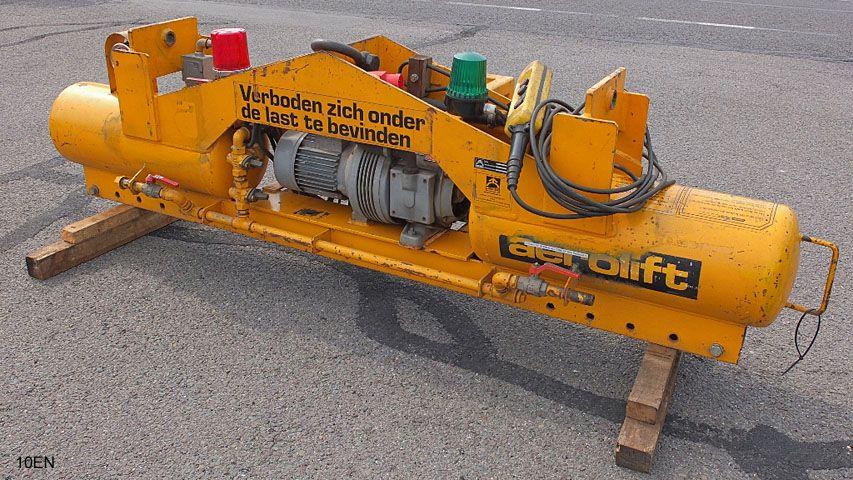 Elektrisch aangedreven vacuüm heftoestel uit het huurassortiment van Aerolift.
