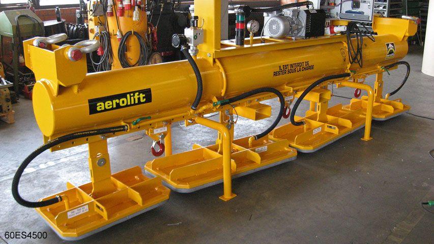 Vacuum lifter to handle concrete elements