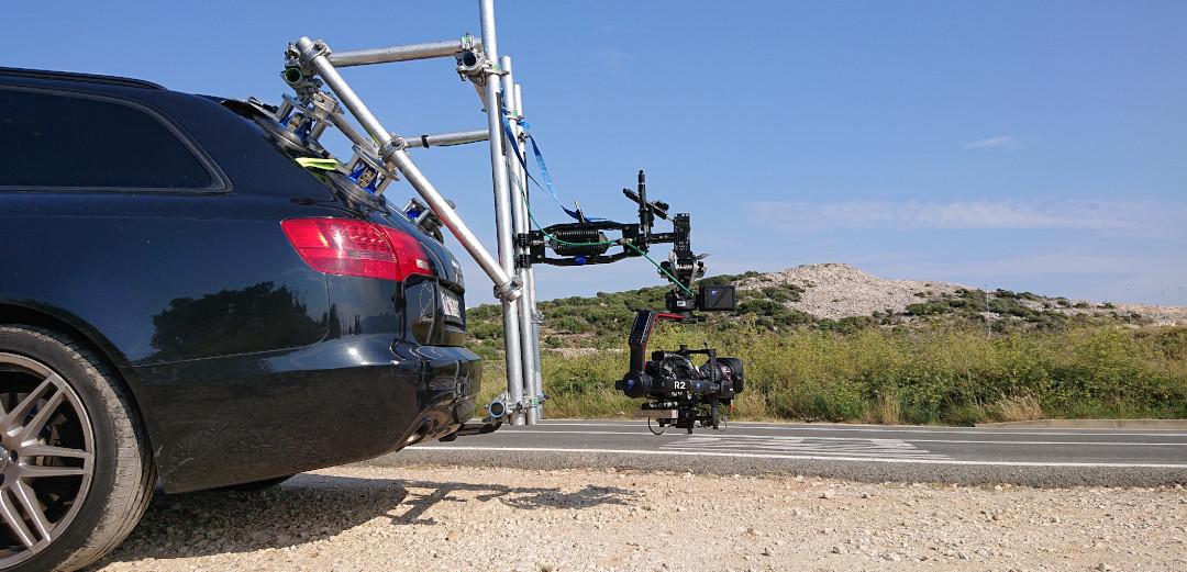 Remote head rigging setup tracking vehicle camcar camrigging car2car cartocar setup drone team uav service cmpany munich germany